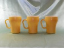 Vintage Fire King/Anchor Hocking, Oven-Proof No.12 Coffee Cups, Yellow, USA