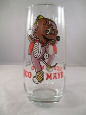 """Vintage """"Mousecot"""" Taco Mayo Promotional Glass Coca-Cola"""