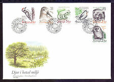 Birds Used First Day Cover European Stamps