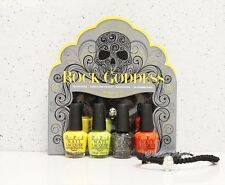 SALE! OPI ROCK GODDESS Mini Kit 4pk Gift SKULL BRACELET Halloween Collection Set