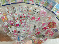 10 sheets Hello Kitty My Melody 3D Bubble Stickers Classic Kids Reward Toy Gift