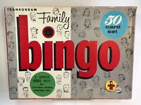Vintage 1956 Transogram Toys and Games Family Bingo Board Game Rare