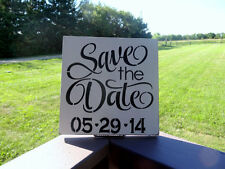 Save The Date Barn Beach Wedding Engagement Announcement Sign Decoration