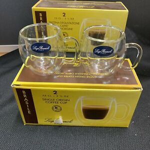 LUIGI BORMIOLI GLASS ESPRESSO CUPS  (SET OF 4) BRASILE