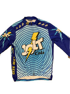 Pearl Izumi Jolt Cola Cycling Jersey Mens  Medium Long Sleeve Size Matters