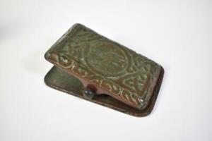 Antique Tiffany Studios Bronze Paper Holder Zodiac Pattern