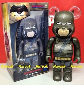 Medicom Bearbrick 2016 DC Dawn Justice Superman v Armored Batman 400% Be@rbrick