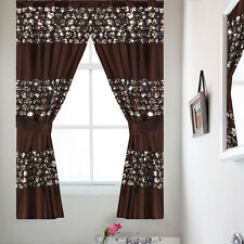 Sinatra Orb Bathroom Window Curtain Set w/Tiebacks Popular Bath Collection