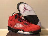 2020 Nike Air Jordan 5 Retro Raging Bull Red Black DD0587-600 Men's Size 9.5,10