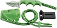 Couteau CRKT Minimalist Bowie Gears 8Cr13MoV Blade Green Abs Handle Etui CR2387G