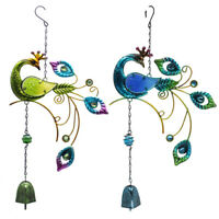 Colorful Peacock Pendant Bell Wind Chimes Indoor Outdoor Garden Decor New Trendy