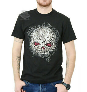 Harley-Davidson Mens Spider Web Willie G Skull Black Short Sleeve T-Shirt