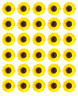 Sunflower x 30 Cupcake Toppers Edible Wafer Paper Fairy Cake Toppers