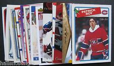 Patrick Roy (Montreal Canadiens) Lot of 29 Cards