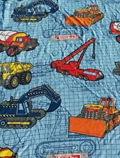 Kids Boys TONKA TRUCK Double Curtain panel vintage DAN RIVER Pair Made in USA