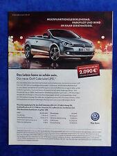 VW GOLF CABRIOLET Life-visualizzazione pubblicitario pubblicità con loghi advertisement 2013 __ (189