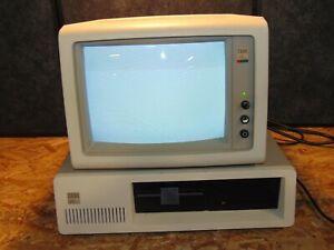 BUNDLE IBM 5160 PERSONAL COMPUTER WITH IBM 5153 MONITOR VINTAGE NO KEYBOARD