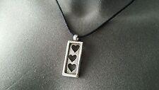 Sterling Valentine's Three Hearts Pendant