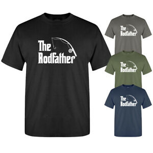 The Rodfather Funny Parody Fishing Slogan Graphic New Mens T-shirt