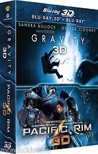 PACIFIC RIM + GRAVITY 3D (2 BLU-RAY 3D + BLU-RAY) COFANETTO 3D Warner Bros