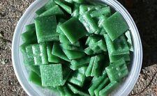 """1 lb 3/4"""" Venetian Vitreous Glass Mosaic Tile Grass Leaf Lawn Green Lucky Clover"""