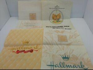VINTAGE HALLMARK PAPER BAGS: PAT'S HALLMARK SHOP, GILLETTE WYOMING, (SET OF 4)