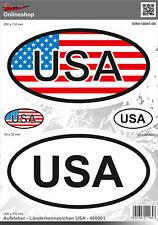 Länderkennzeichen USA Aufkleber,-Auto-Caravan-Motorrad 400001