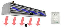 Luftschleier Länge 1m Luftschleiergerät mit Elektroheizer Lufterhitzer NEU SET