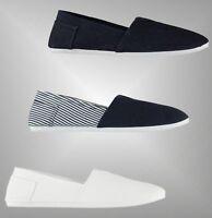 Mens Branded Slazenger Everyday Cushioned Slip On Sams Canvas Shoes Size 7-11