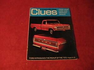 1970 Ford Pickup Truck Bronco Sales Brochure Booklet Catalog Book Old Original