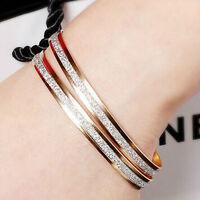 1pc Women's Chic Rhinestone Bracelet Gold & Silver Bangle Fashion Jewelry Gifts