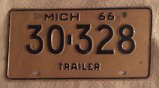 Vintage 1966  Michigan License Plate FREE SHIPPING Visit My eBay Store