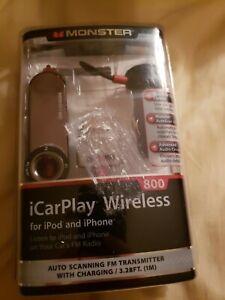 MONSTER iCarPlay Wireless 800 iPod iPhone Radio Transmitter/Charger