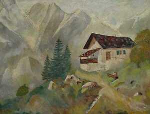 Haus am Berg/Gemälde/Bild/Ölgemälde/1321