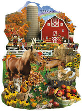 Jigsaw Puzzle Farm Life Freeform On The Farm 1000 pieces NEW Made in the USA