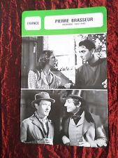 PIERRE BRASSEUR - MOVIE STAR - FILM TRADE CARD - FRENCH - #1