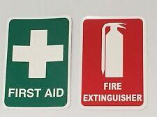 Fire Extinguisher Sticker & First Aid Sticker 150mm x 220mm Vehicle Truck Ute