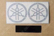 2x Yamaha Tuning Forks Premium Cast Decals Stickers YZF R1 R3 R6 FJR MT XT  80mm