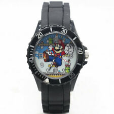 "Super Mario Brothers ""MARIO"" Black Silicone Band Wrist Watch"