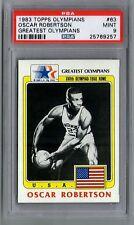 OSCAR ROBERTSON 1983 TOPPS OLYMPIANS GREATEST #63 CARD PSA MINT 9!