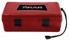 More details for xikar 10 cigar travel humidor red case - boveda pack model - 210rdxi