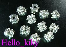 100 Pcs Tibetan silver gear barrel spacer beads A331