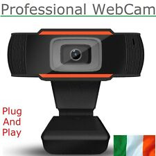USB HD Webcam With Microphone For PC & Laptop Plug & Play Easy Mount Web Camera