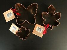 "Wilton Solid Copper Cookie Cutter Maple Leaf Butterfly 5.5"" (plated Leaf 3"") NWT"