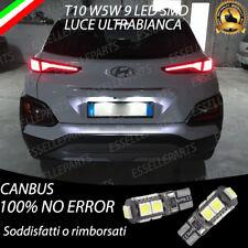 COPPIA LUCI TARGA 9 LED HYUNDAI KONA T10 W5W BIANCO CANBUS NO ERROR