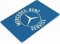 Mercedes-Benz Service Oil Gas Parts Service Mechanic Auto Shop Garage Metal Sign