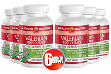 Valerian Plant Tablets - VALERIAN ROOT EXTRACT 125mg - Relief For Poor Sleep 6B