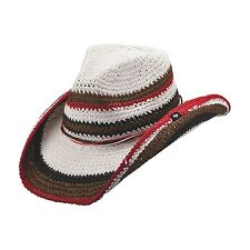 NEW PETER GRIMM AMAL MULTI-COLORED STRIPED KNIT WESTERN COWBOY HAT