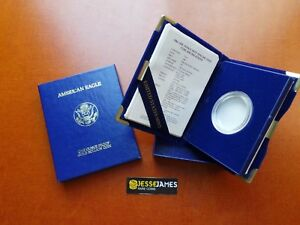 NO COIN: 1986 W $50 PROOF GOLD EAGLE BOX/COA ONE OUNCE OGP ONLY