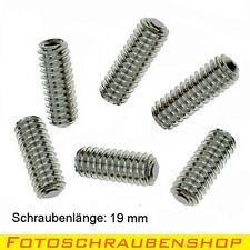 """1/4""""- Edelstahl-Gewindestifte, 6x19mm (Stativstift, UNC, Madenschraube)"""